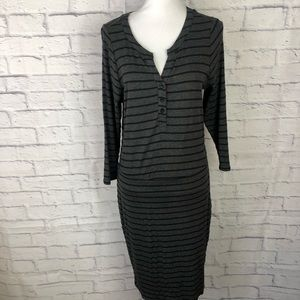 Torrid Long Sleeve Striped VNeck Jersey Knit Dress